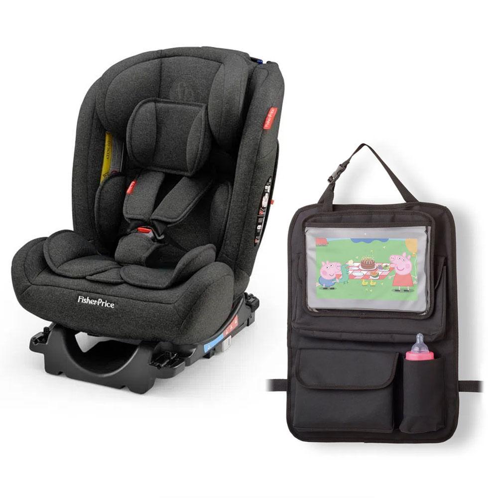 Kit De Cadeira Para Auto - 0 a 36 Kg - All - Stages Fix 2.0 - Preta e Organizador Para Carro - Fisher-Price