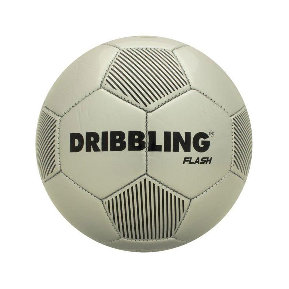 Bola De Futebol - Dribbling Flash - Prata e Preto - Tamanho 5 - Sportcom