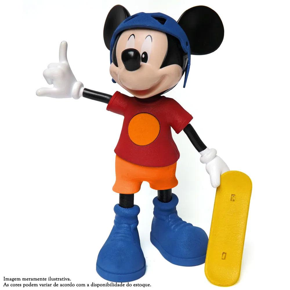 Boneco e Skate - Disney - Mickey Radical com Cores Sortidas - Elka