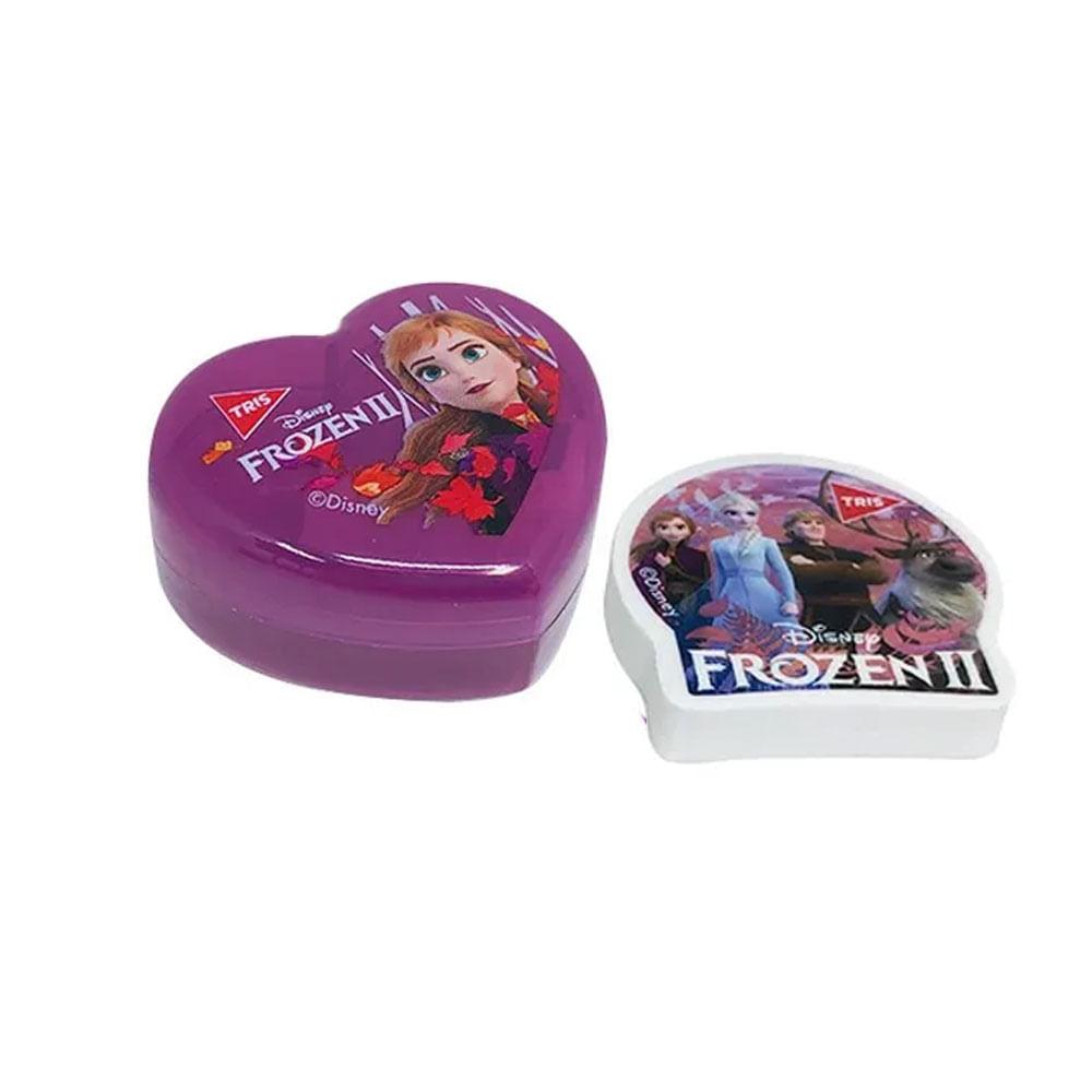 Conjunto de Apontador e Borracha - Disney - Frozen 2 - Anna - Tris