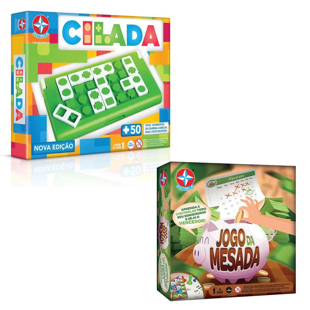 Kit de Jogos - Jogo da Mesada e Cilada - Nova Edição - Estrela