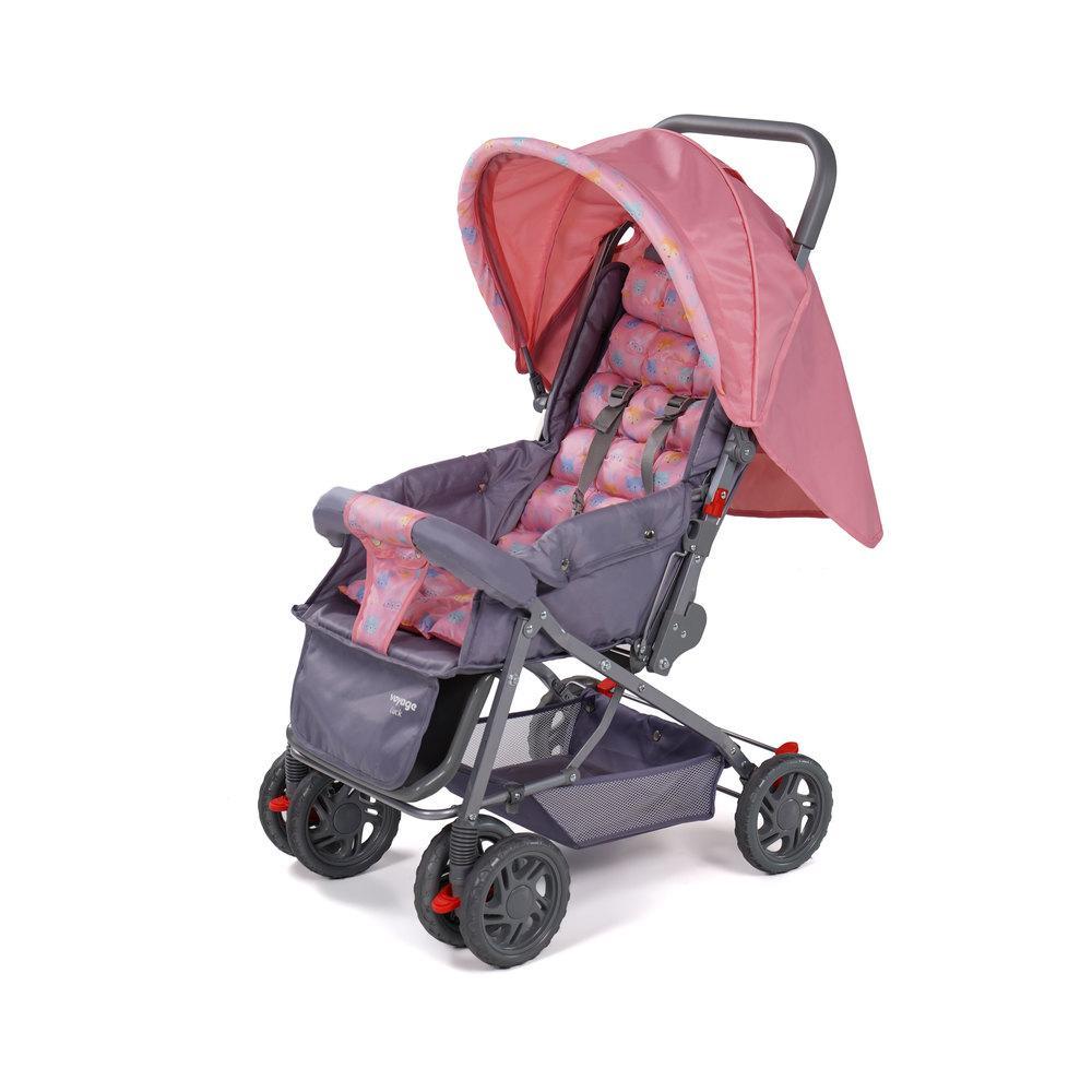 Carrinho de Bebê Luck Voyage - Rosa Boreal