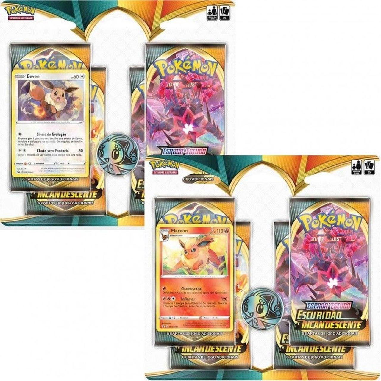 Pokémon - 2 Blister Flareon e Eevee - Incandescente - Copag