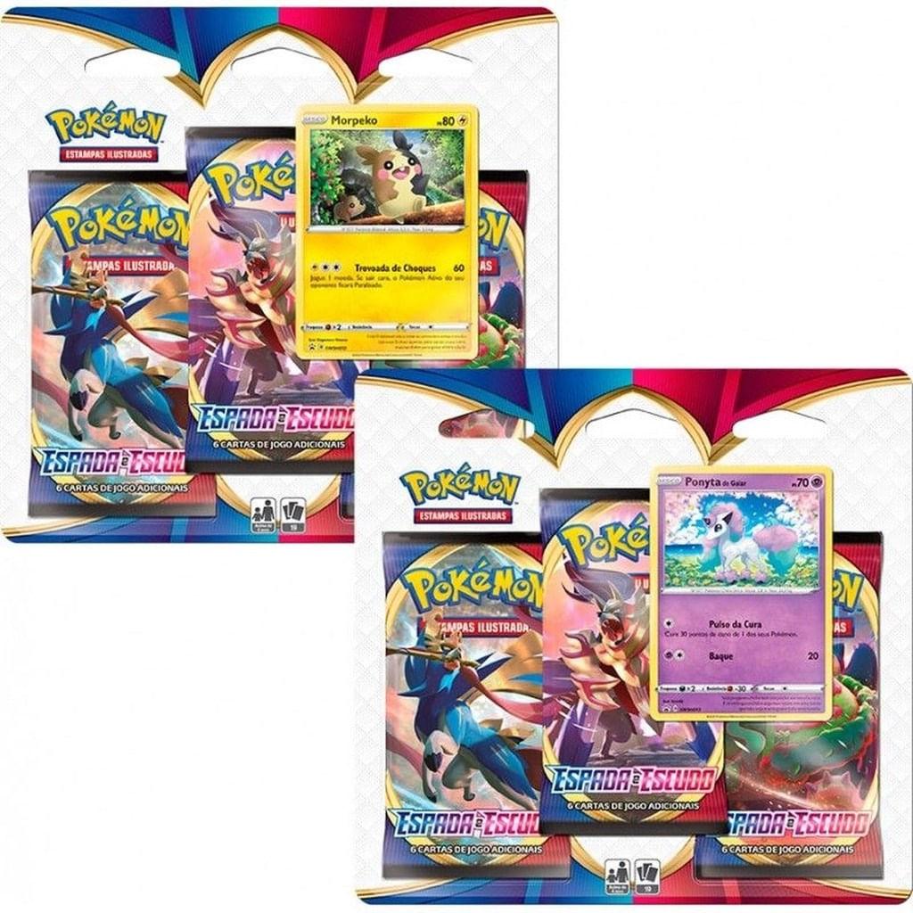 Pokémon 2 Blister Triplo - Morpeko e Ponyta Espada e Escudo
