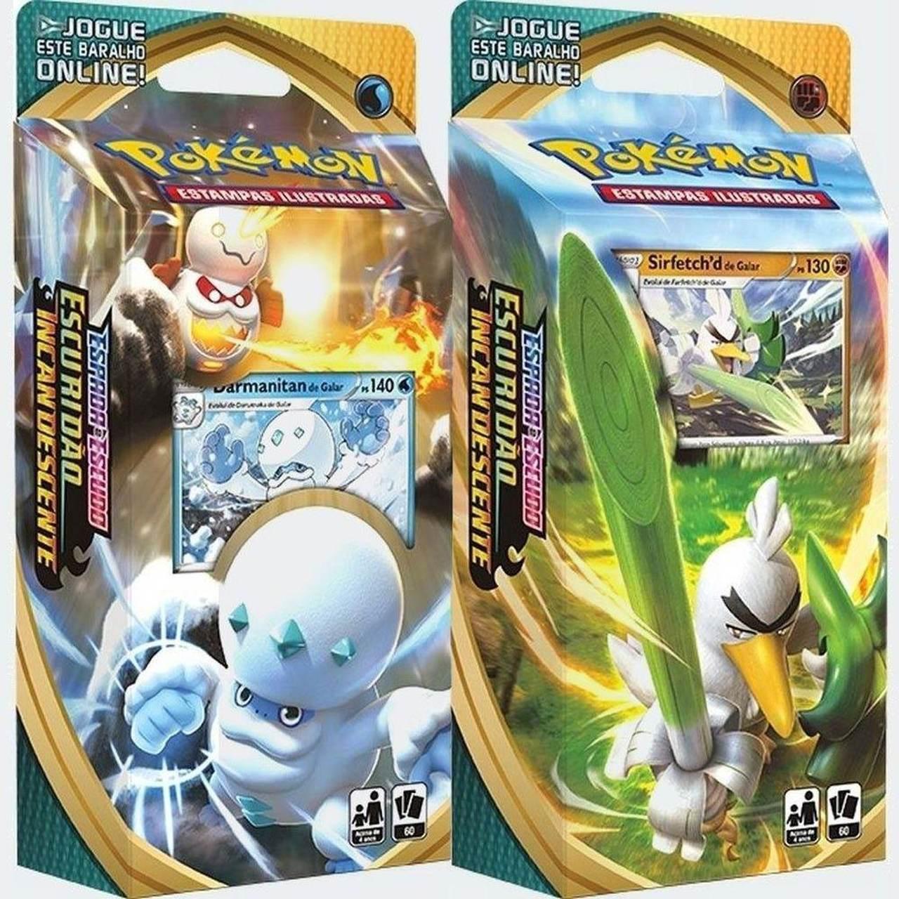 Pokémon 2 Deck Darmanitan e Sirfetch Escuridão Incandescente