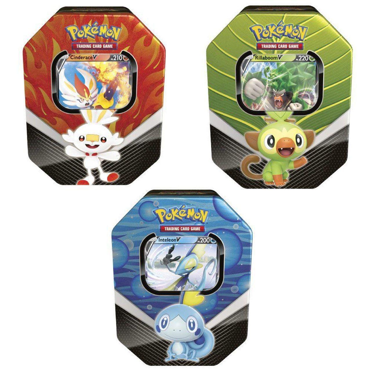 Pokémon - 3 Latas Galar V - Rillaboom Inteleon e Cinderace