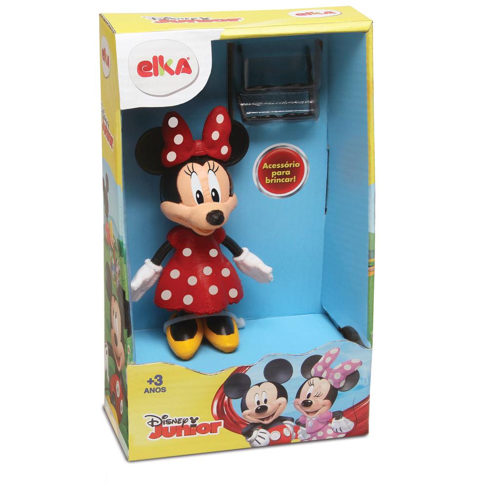 Boneca Minnie - 12cm - 2 Acessórios - Elka
