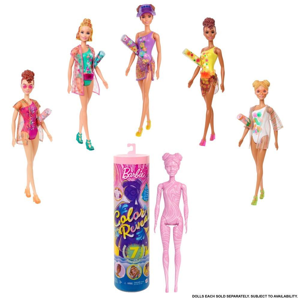 Boneca Barbie - Color Reveal - Areia e Sol - Mattel