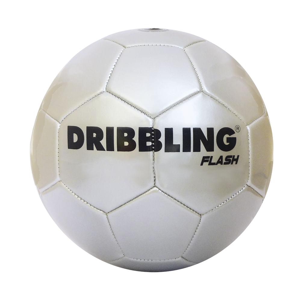 Bola de Futebol - Dribbling Flash - Prata - Tamanho 5 - Sportcom