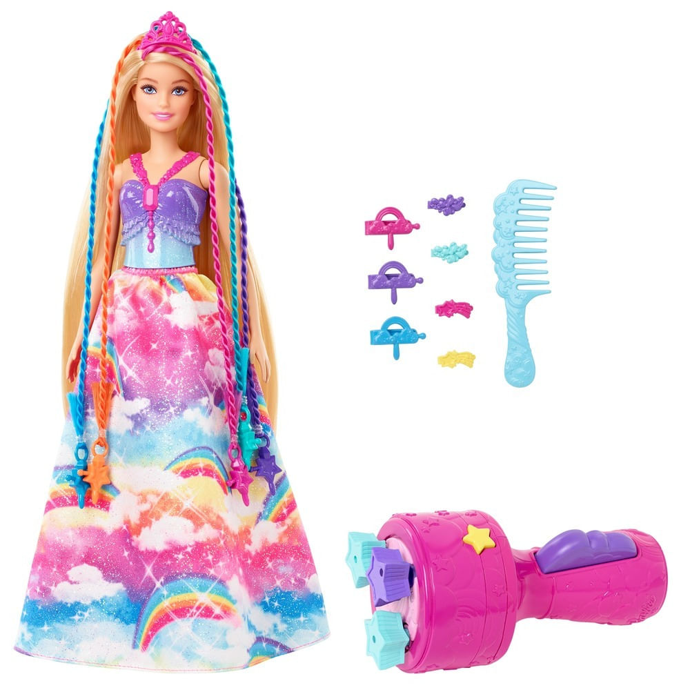 Barbie - Dreamtopia - Princesa Tranças Mágicas - Mattel