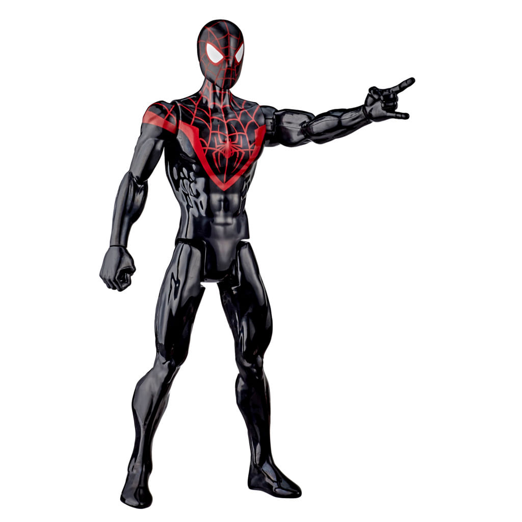 Figura Spider-Man Titan - Marvel - Homem-Aranha - Miles Morales - Preto - Hasbro