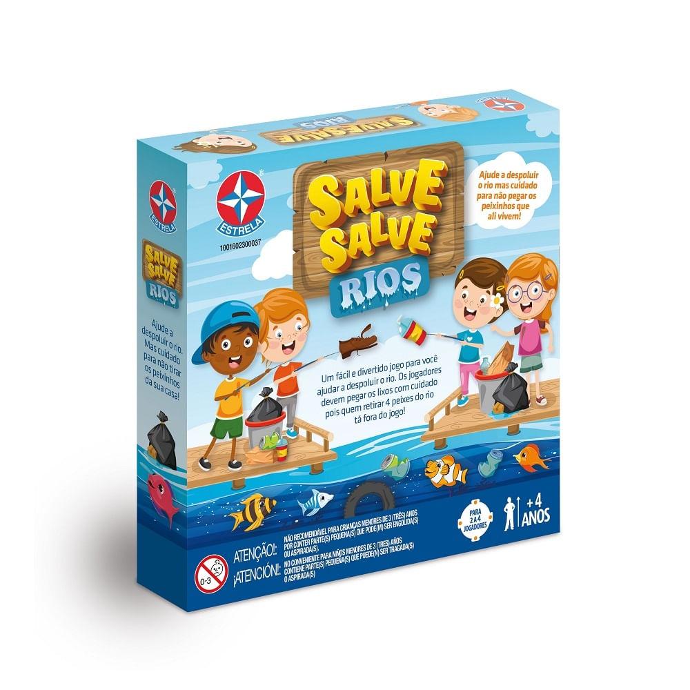 Jogo De Tabuleiro - Salve Salve Rios - Número de Jogadores 2 a 4 - Estrela