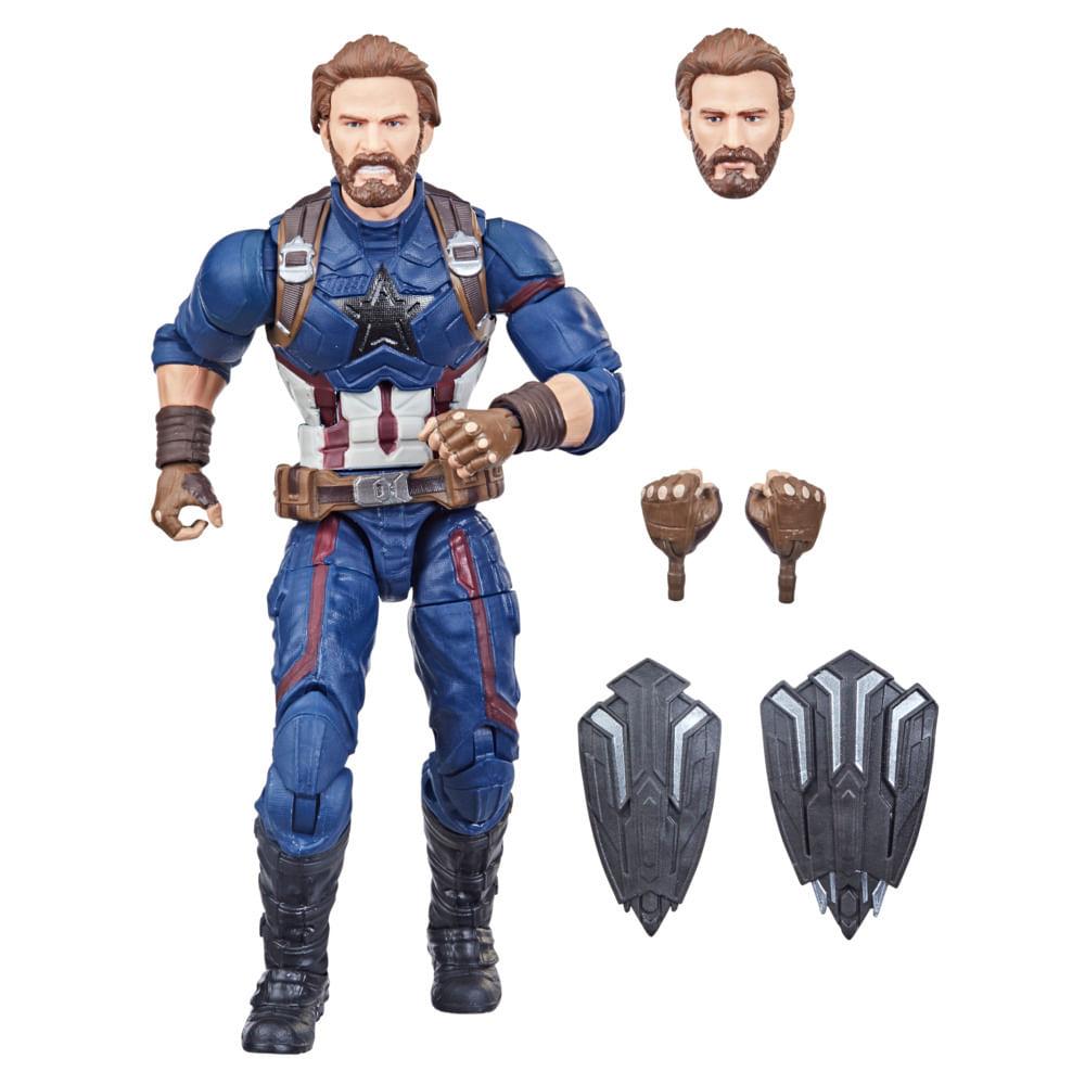 Boneco Articulado - Marvel Legends - Capitão América - 15 cm - Hasbro
