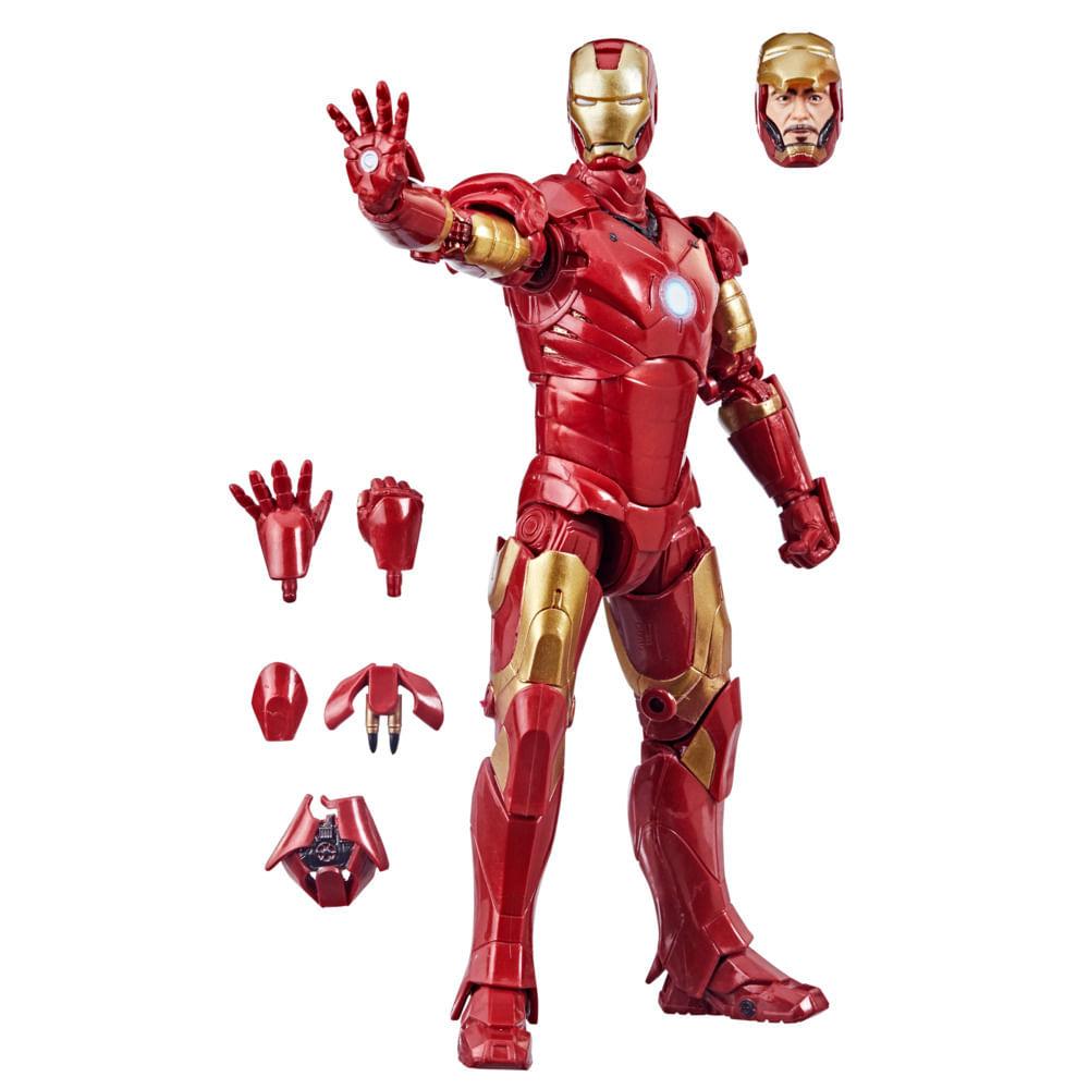 Figura Articulado - Marvel Legends - Homem de Ferro Mark 3 - 15 cm - Hasbro