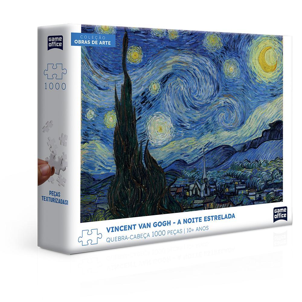 Quebra-Cabeça - Vincent Van Gogh - A Noite Estrelada - 1000 Peças - Game Office - Toyster
