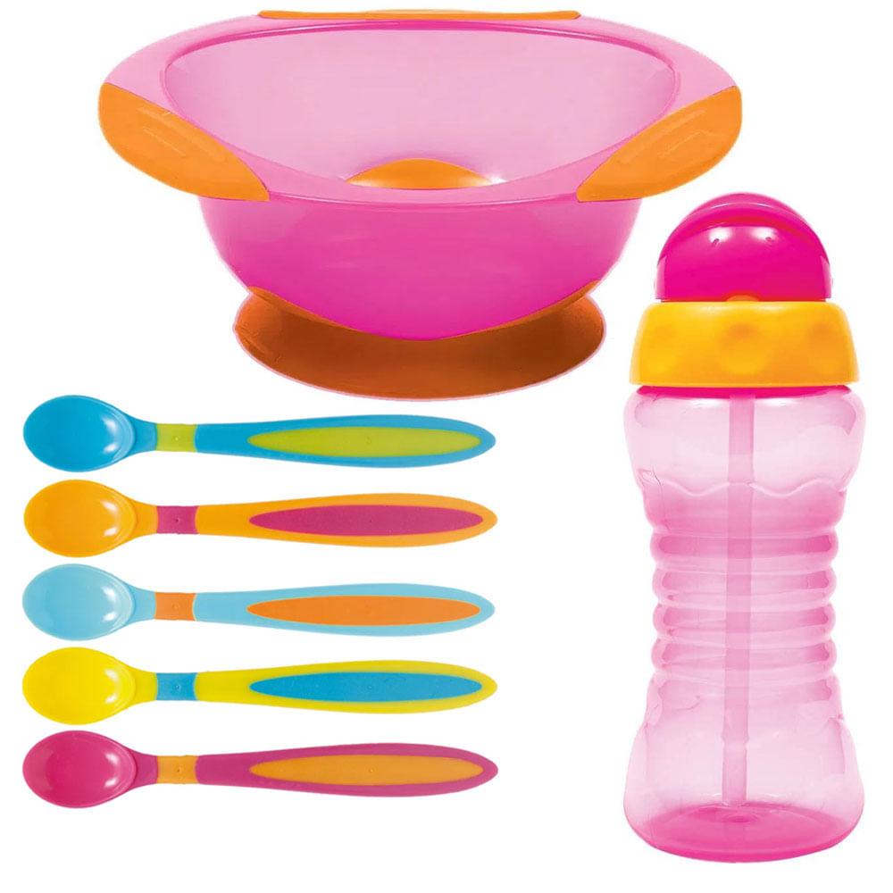 Kit de Alimentação Buba - Rosa - 7 Peças