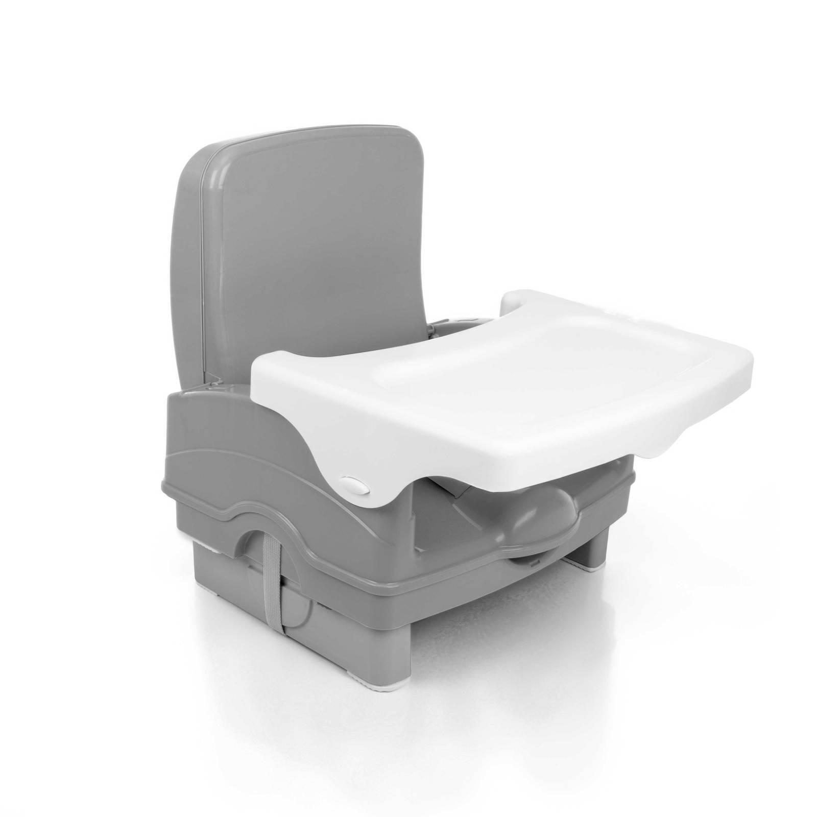 Cadeira de Alimentação Portátil - Voyage - Cake - Cinza - Suporta até 23 Kg