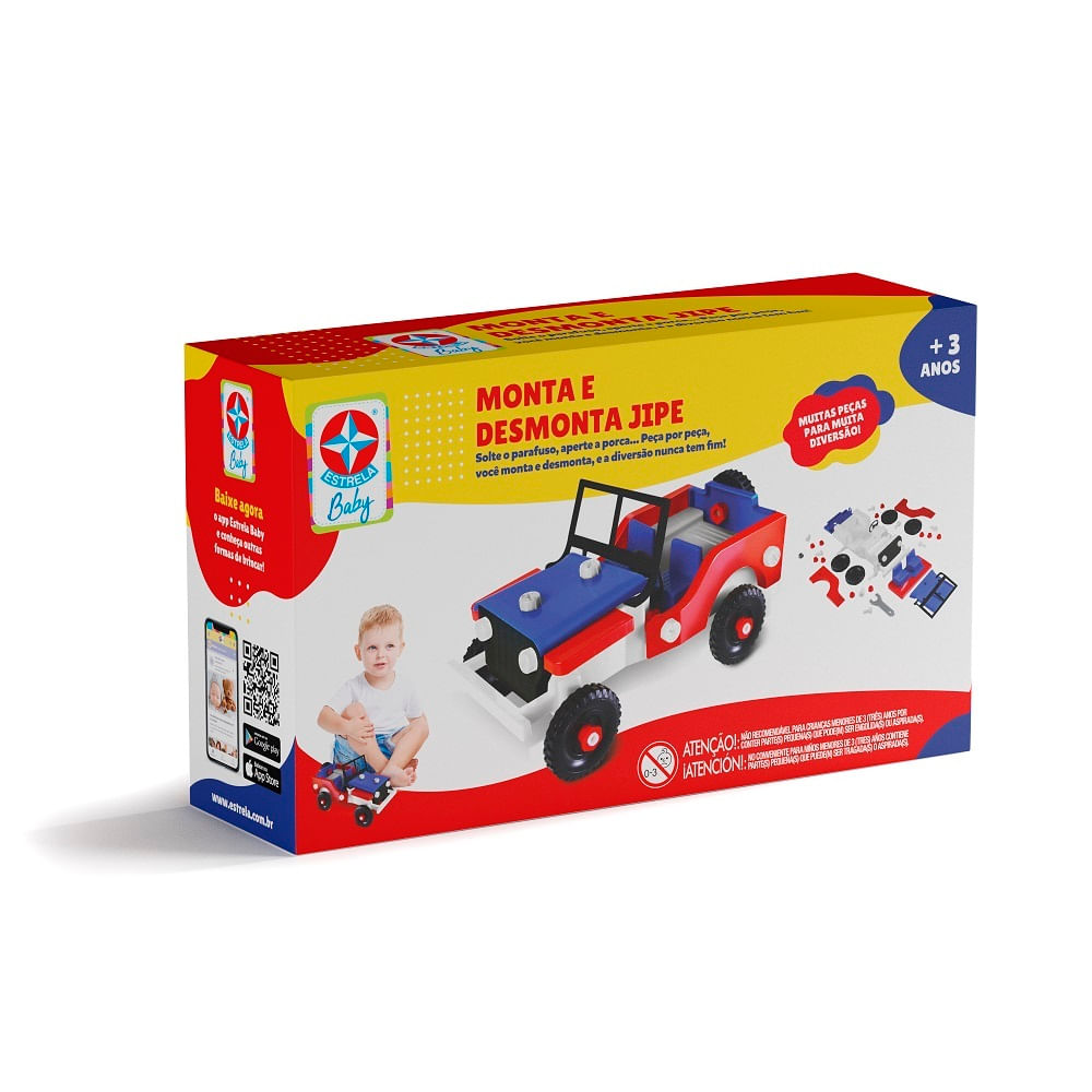 Mini Veículo - Monta e Desmonta - Jipe - Estrela Baby