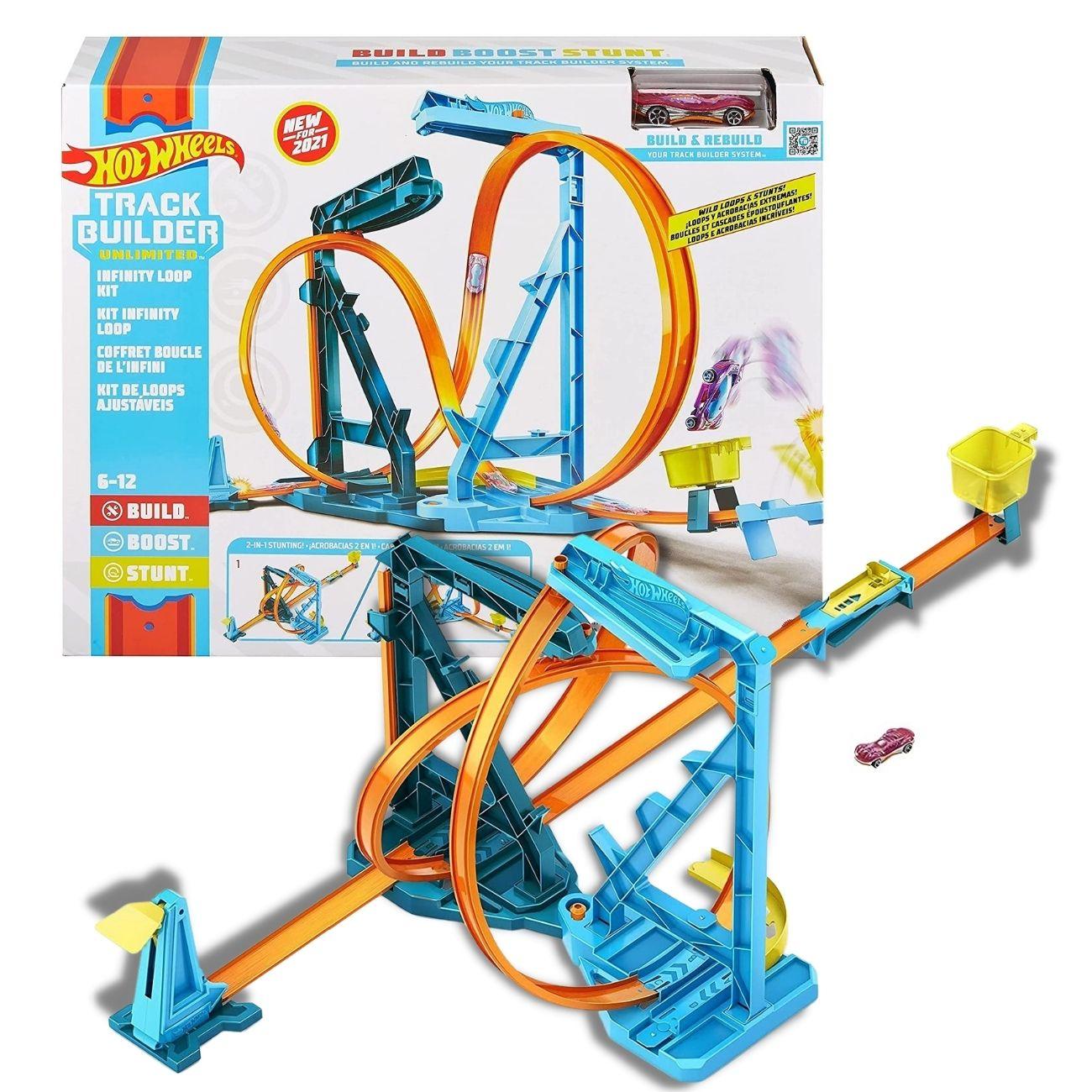 Pista Hot Wheels - Kit Loops Ajustáveis - Mattel Brinquedos