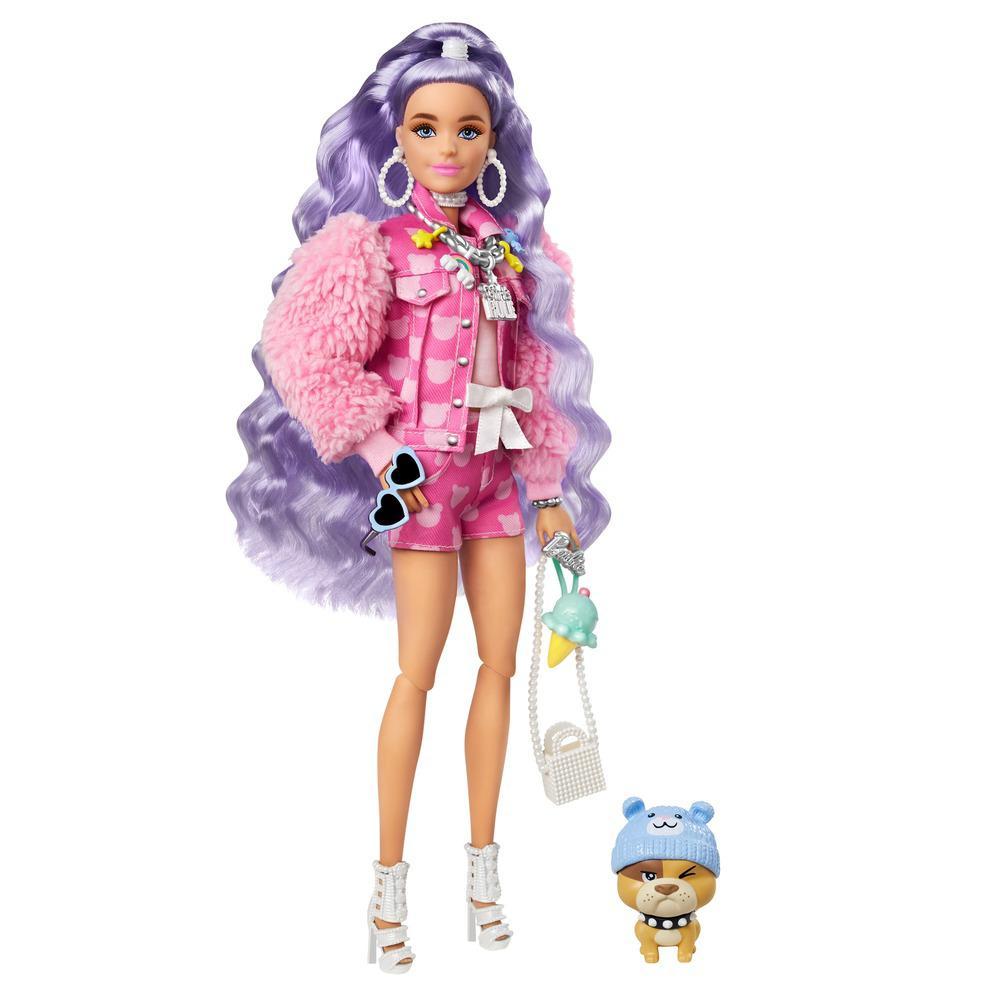 Boneca Barbie - Extra - Barbie Com Saia Roxa - Mattel