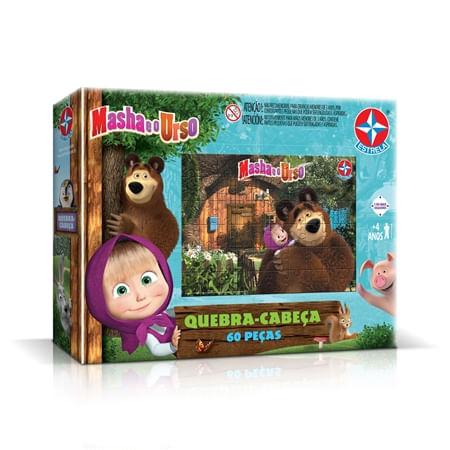 Quebra-Cabeça 60 peças Masha e o Urso - Estrela