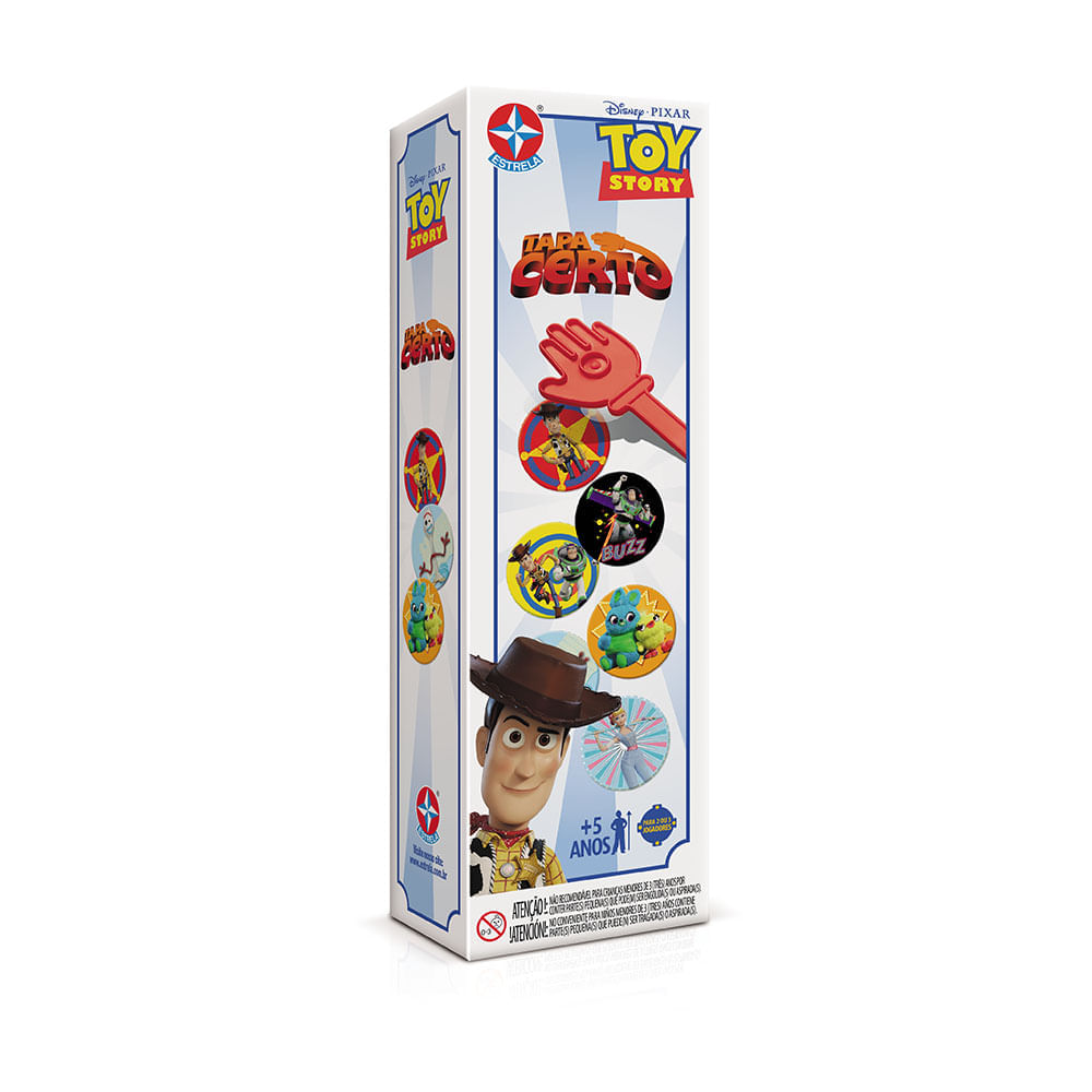Jogo Tapa Certo Toy Story 4 - Estrela