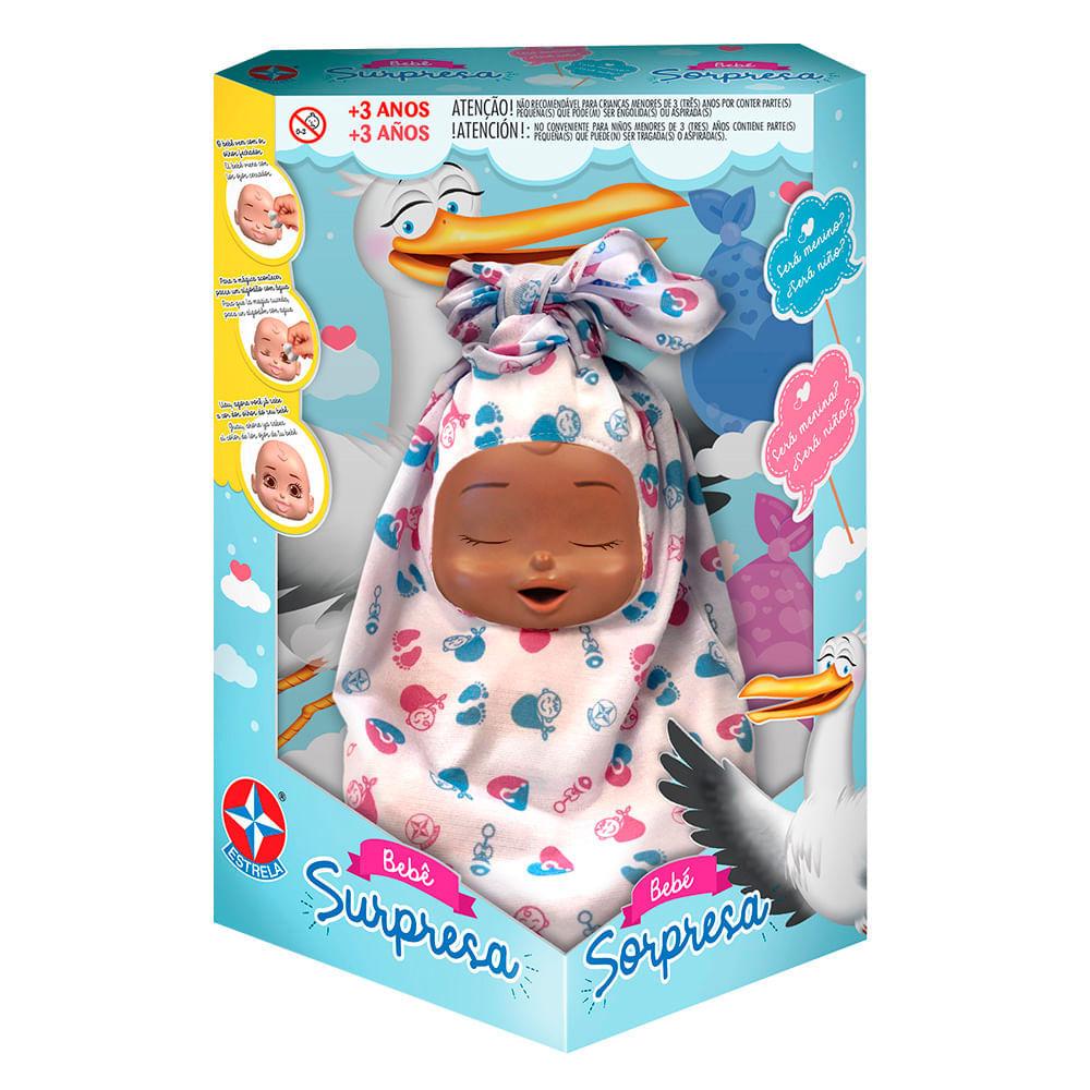 Boneca Bebê Surpresa Negro - Estrela