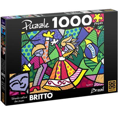 Quebra-Cabeça - Romero Britto - Brazil - 1000 Peças - Grow