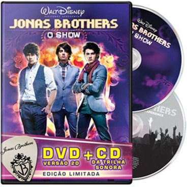 DVD - Jonas Brothers O Show 2D + CD Trilha Sonora