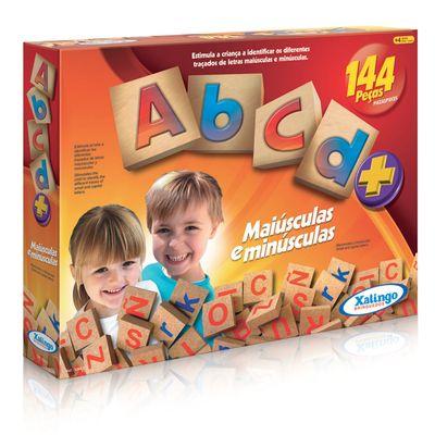 ABCD de 144 Peças de Madeira - Xalingo