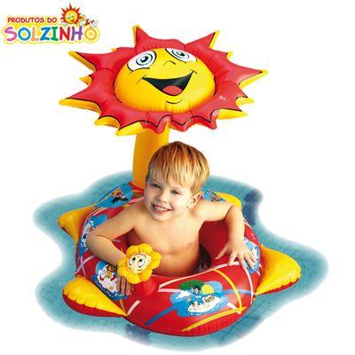 Bóia Inflável - Baby Bote com Cobertura - Solzinho