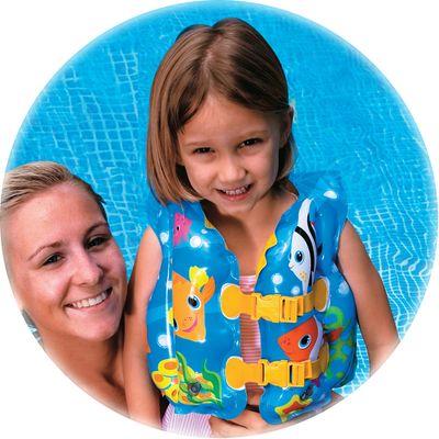 Colete Inflável Infantil - Peixinhos - Intex