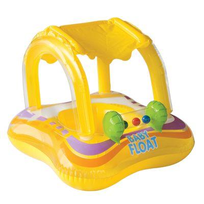 Bóia Inflável - Baby Bote Kiddie com Cobertura - Intex