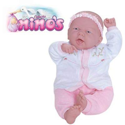 Boneca Bebê Sorrindo - Coleção Ninos - Cotiplás