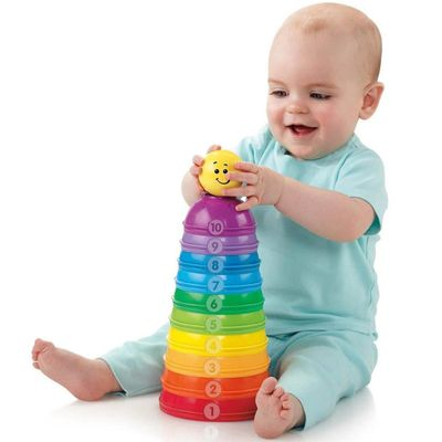 Potinhos Empilhar & Rolar - Brilliant Basics - Fisher-Price