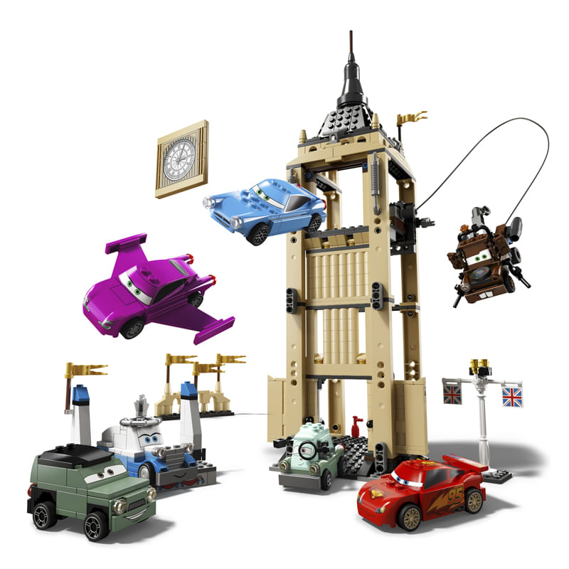 LEGO Disney Cars 2 modelo Fuga Explosiva do BigBentley