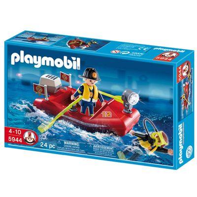 Playmobil Bombeiros - Barco dos Bombeiros - 5944