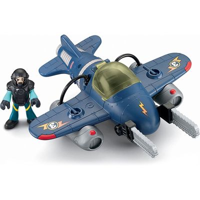 Avião Tornado Jet - Imaginext Sky Racers - Fisher-Price