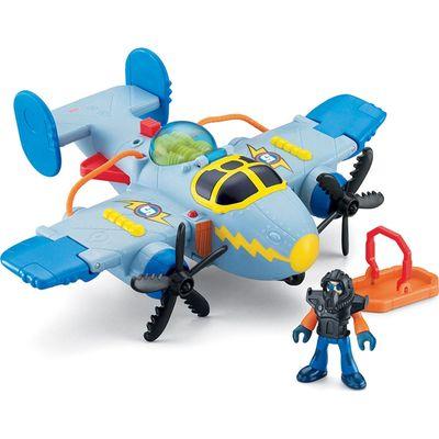 Avião Tornado Cinza - Imaginext Sky Racers - Fisher-Price