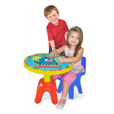 Mesa com Cadeira Galinha Pintadinha - Azul - Lider