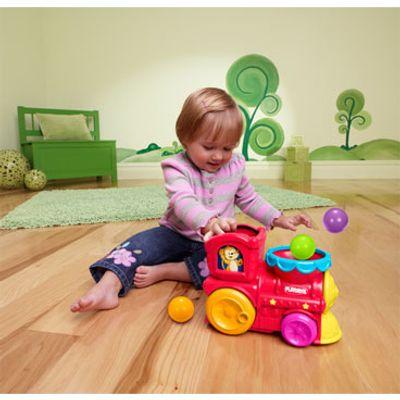Brinquedo Musical - Trenzinho Surpresa com Lança Bolinhas - Playskool - Hasbro
