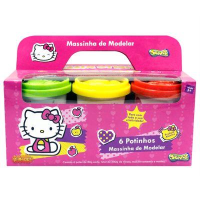 Massinha Hello Kitty - 6 Potinhos - Sunny
