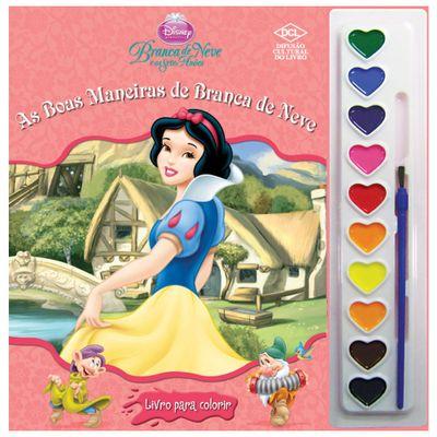 Livro - Disney Aquarela - Branca de Neve - DLC