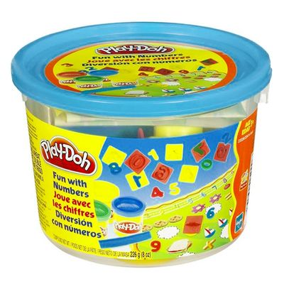 Massinha Play-Doh - Mini Balde Molde de Numeros - Hasbro