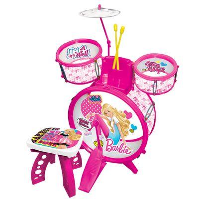 Bateria Infantil - Barbie - Barão Toys