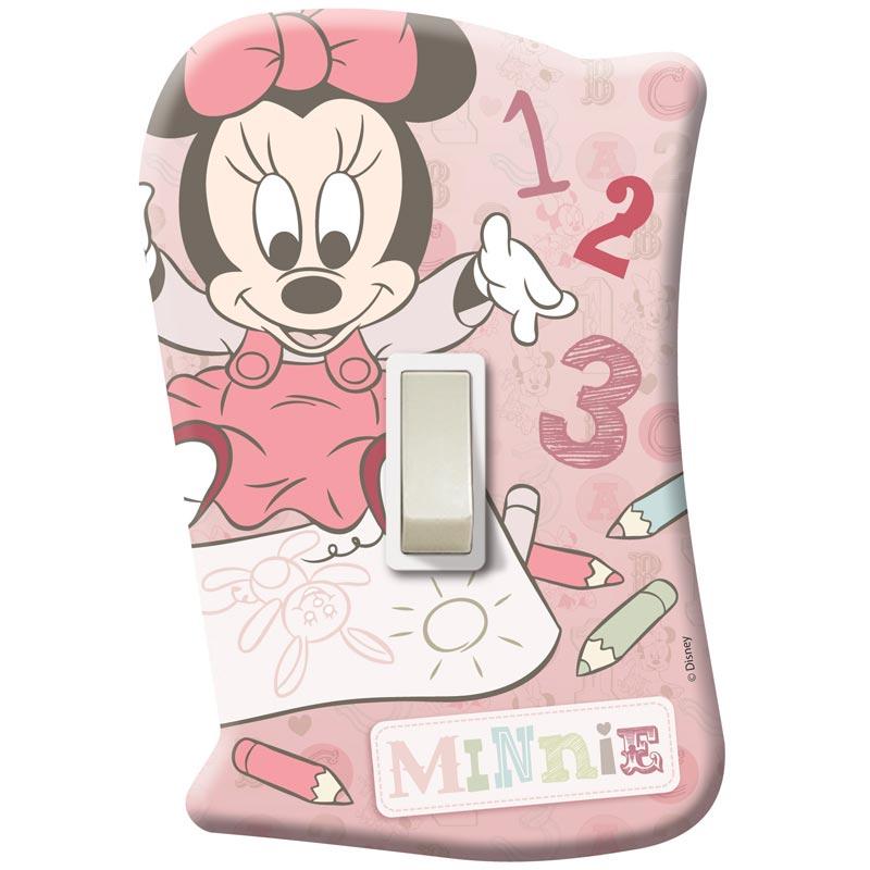 Placa com Interruptor Disney Minnie Baby - Startec Placa com Interruptor Disney Minnie Baby