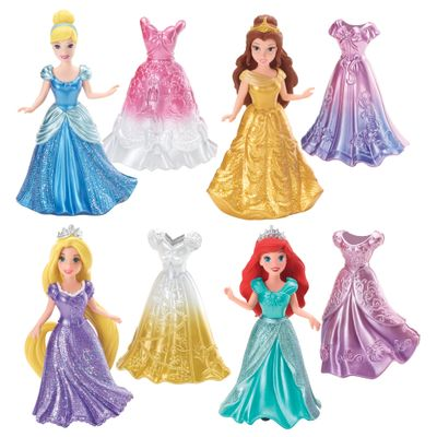 Bonecas-e-Vestidos-do-Kit-Mini-Magiclip---Princesas-Disney