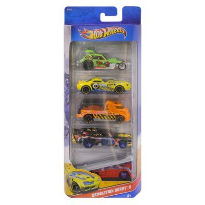 Hot-Wheels-Pacote-5-Carros---Demolition-Derby-W4255