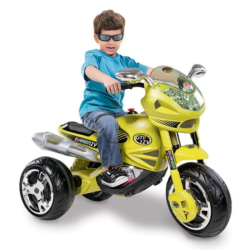 Mini Moto Elétrica infantil Super GT2 Turbo Citrus 12V da Bandeirante
