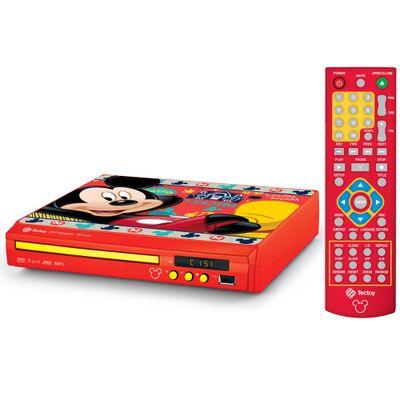 DVD-com-Controle-DVD-Player-Compacto-Disney-Mickey-TecToy